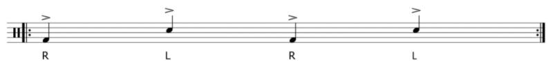 partition cajon accent L R